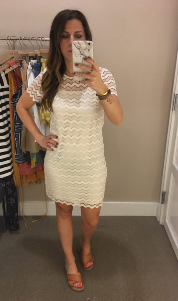 cream lace overlay
