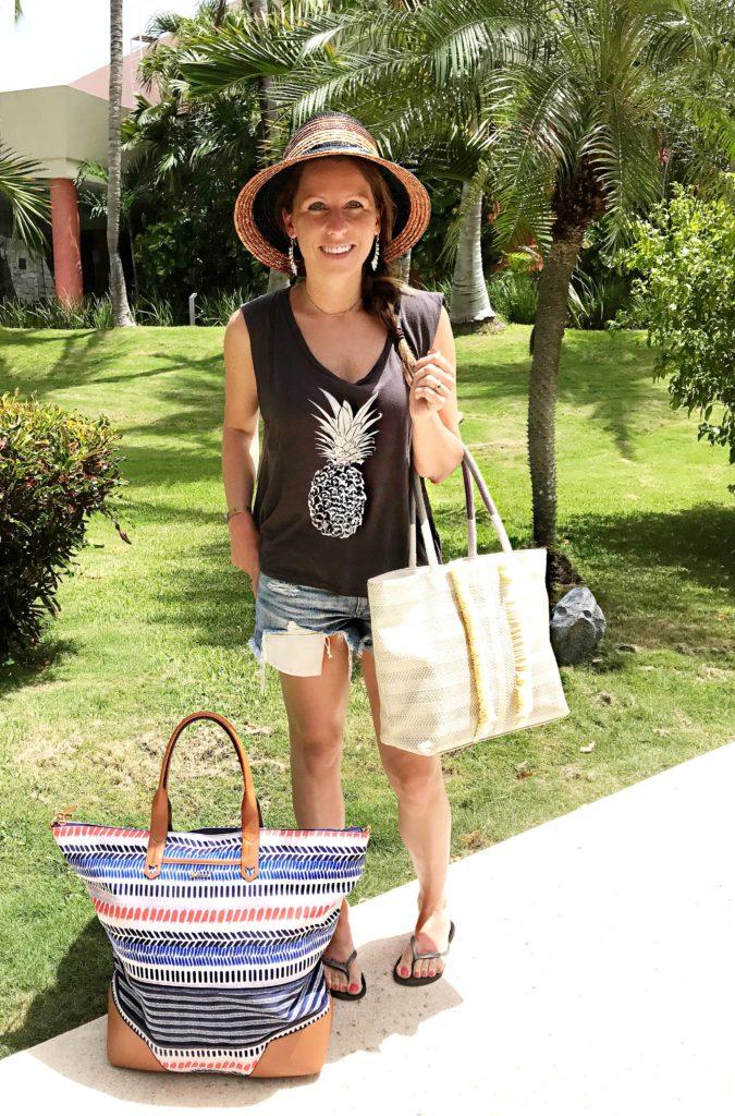 pineapple cutoffs getaway bag