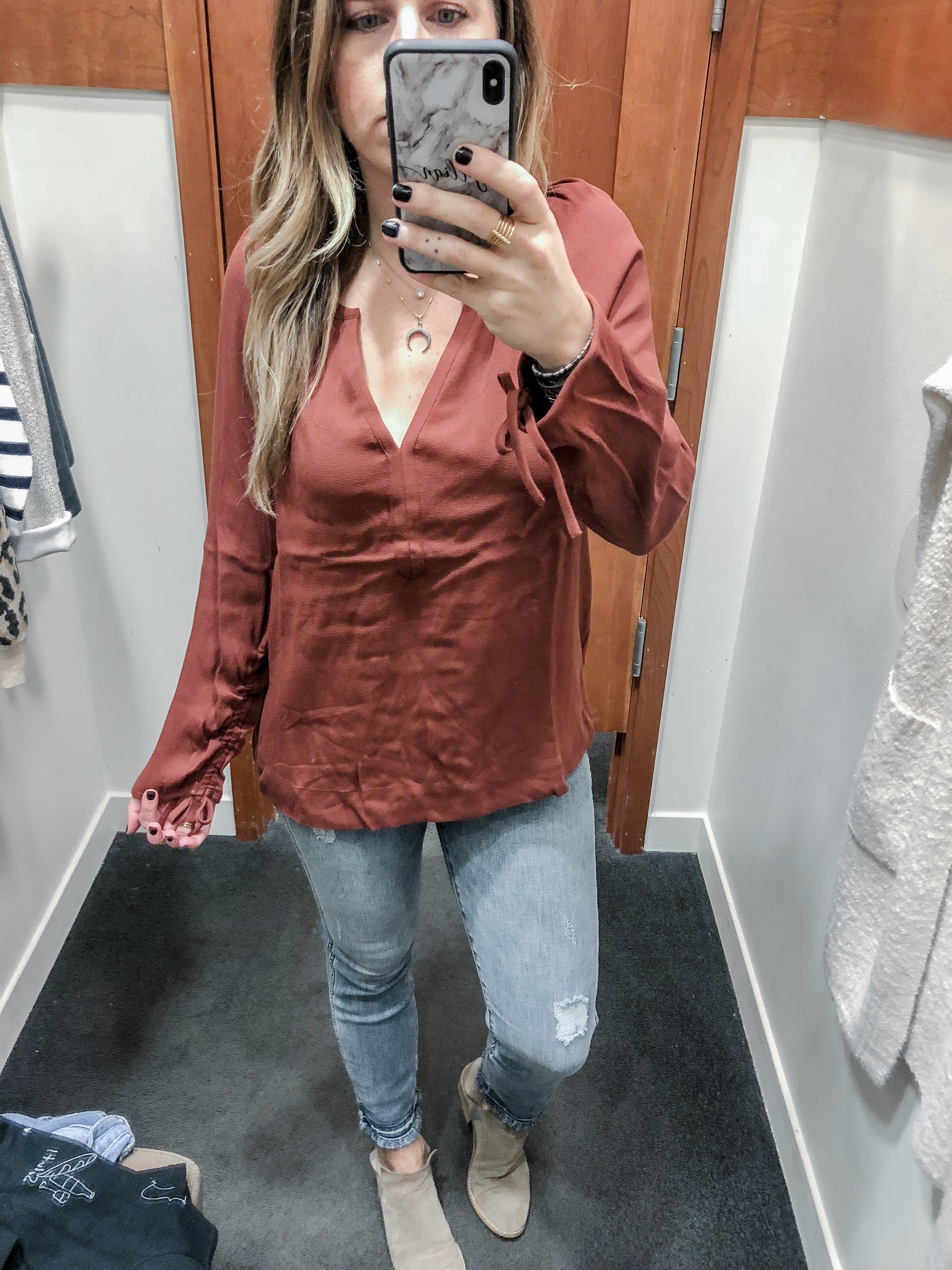 J.Crew Fall 2018 Point Sur Drapey Open V-Neck Top