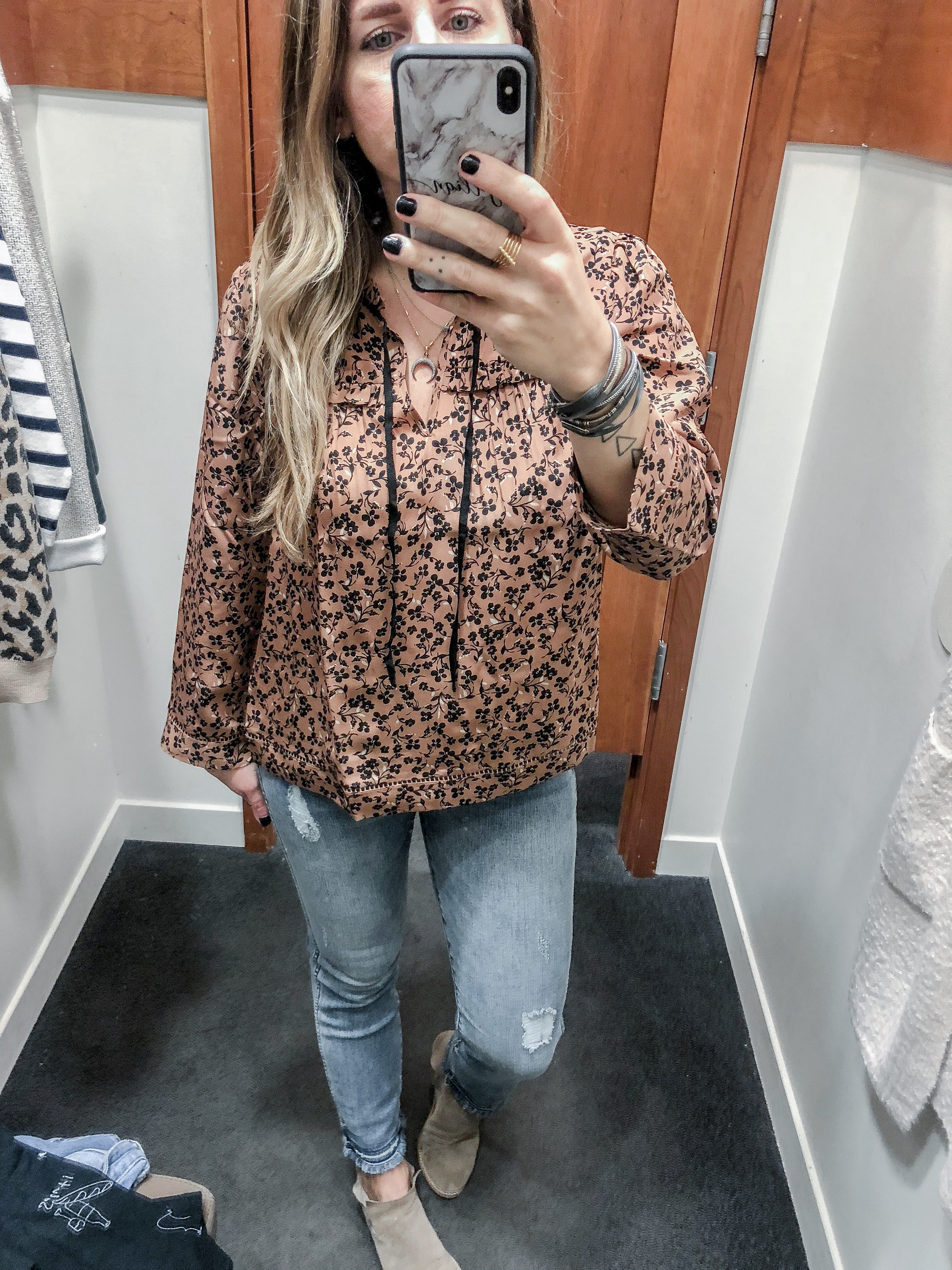 J.Crew 2018 Fall Collection Point Sur Silk Popover Shirt in Blossom Print