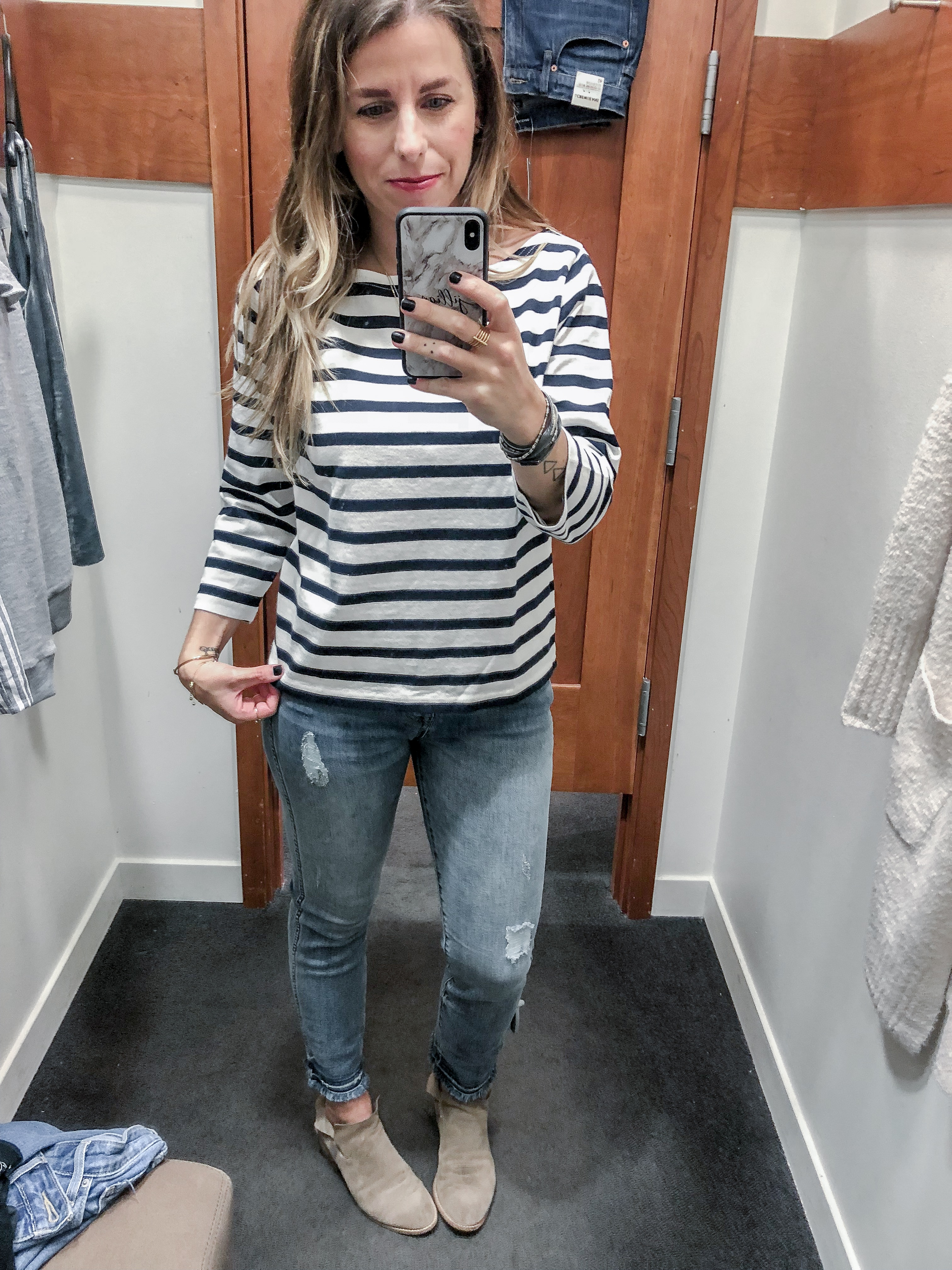 J.Crew 2018 Fall Collection Striped Boatneck T-Shirt