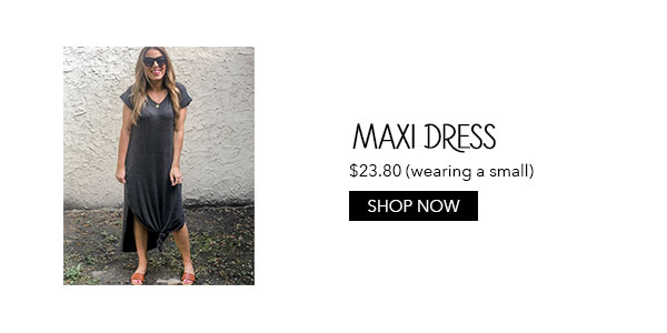 Amazon Summer Maxi Dress in Gray