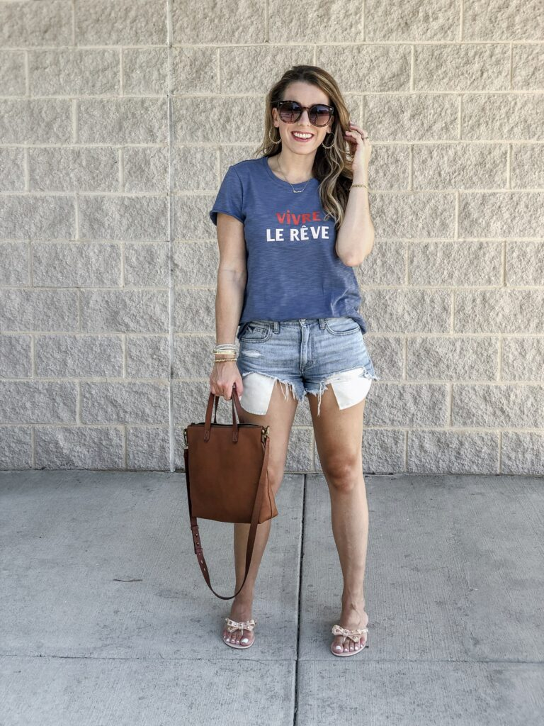 Stella & Dot Graphic Tee Mom Style