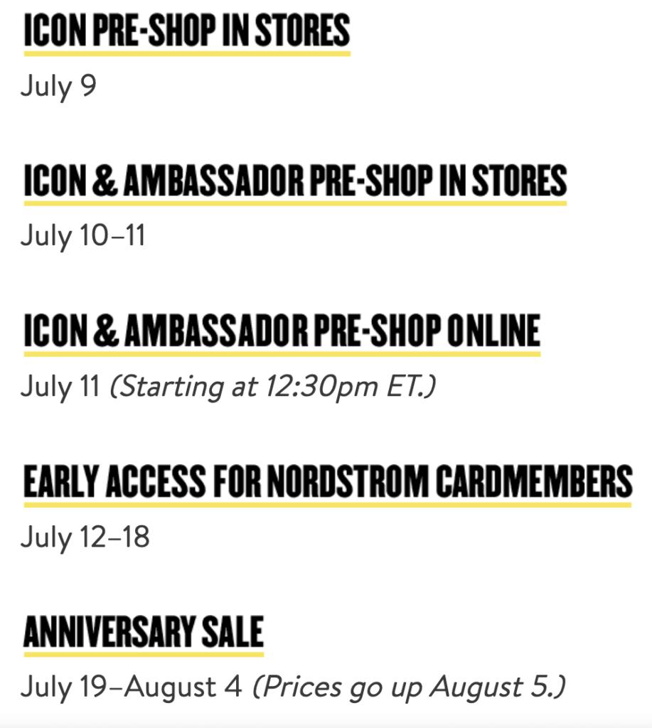 Nordstrom Anniversary Sale 2019 Dates Jillian Rosado